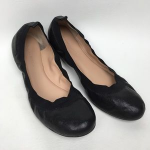 Banana Republic Sz 9M Black Leather Flats